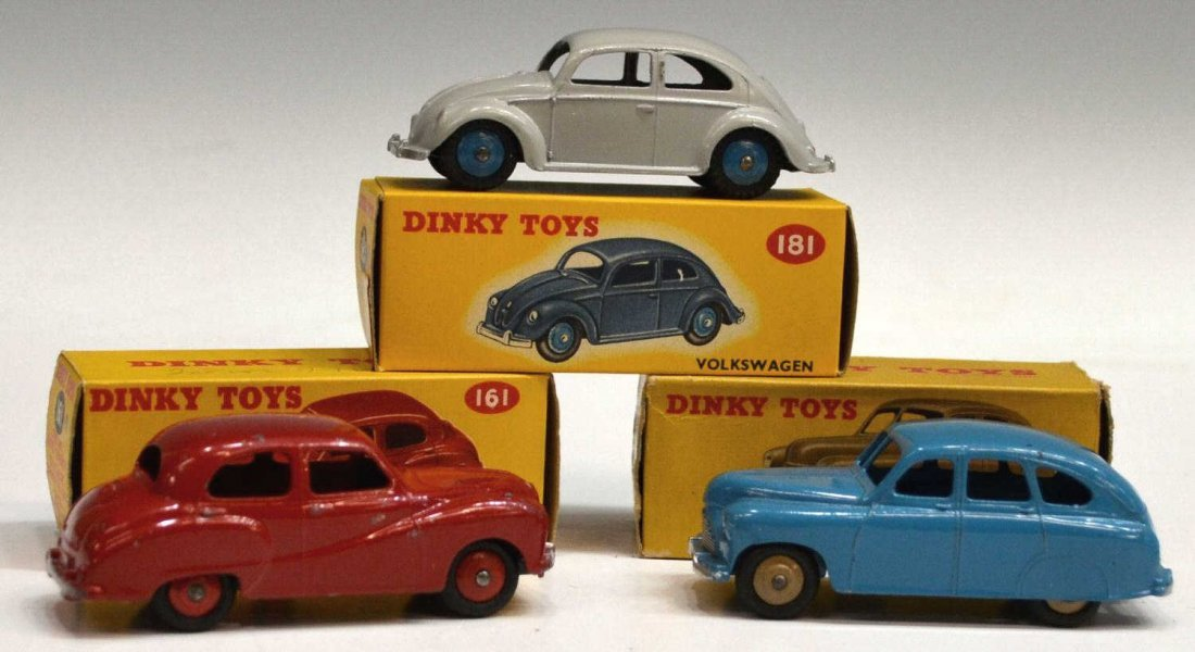 23: (3) VINTAGE DINKY TOYS CARS, SOMERSET SALOON