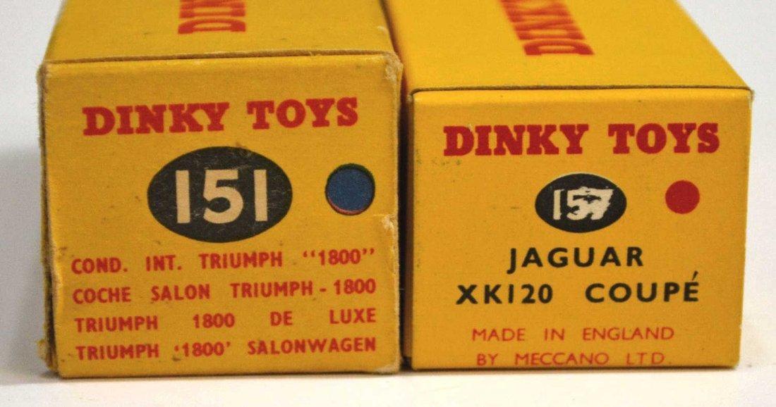 24: (2) VINTAGE DINKY CARS, TRIUMPH 151 & JAGUAR 157 - 3