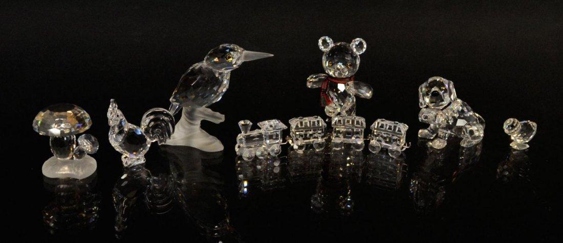 9: (7) SWAROVSKI CRYSTAL BIRDS, ANIMALS & TRAIN