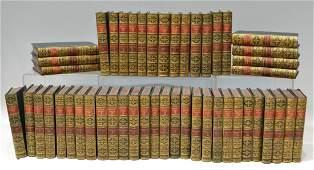 "121: (48) BOOKS: ""THE WAVERLEY NOVELS"" SCOTT, LEATHER"