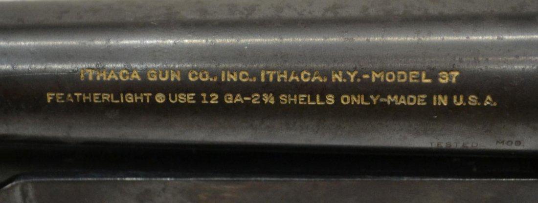225: ITHACA MODEL 37 FEATHERLIGHT 12 GAUGE PUMP SHOTGUN - 7