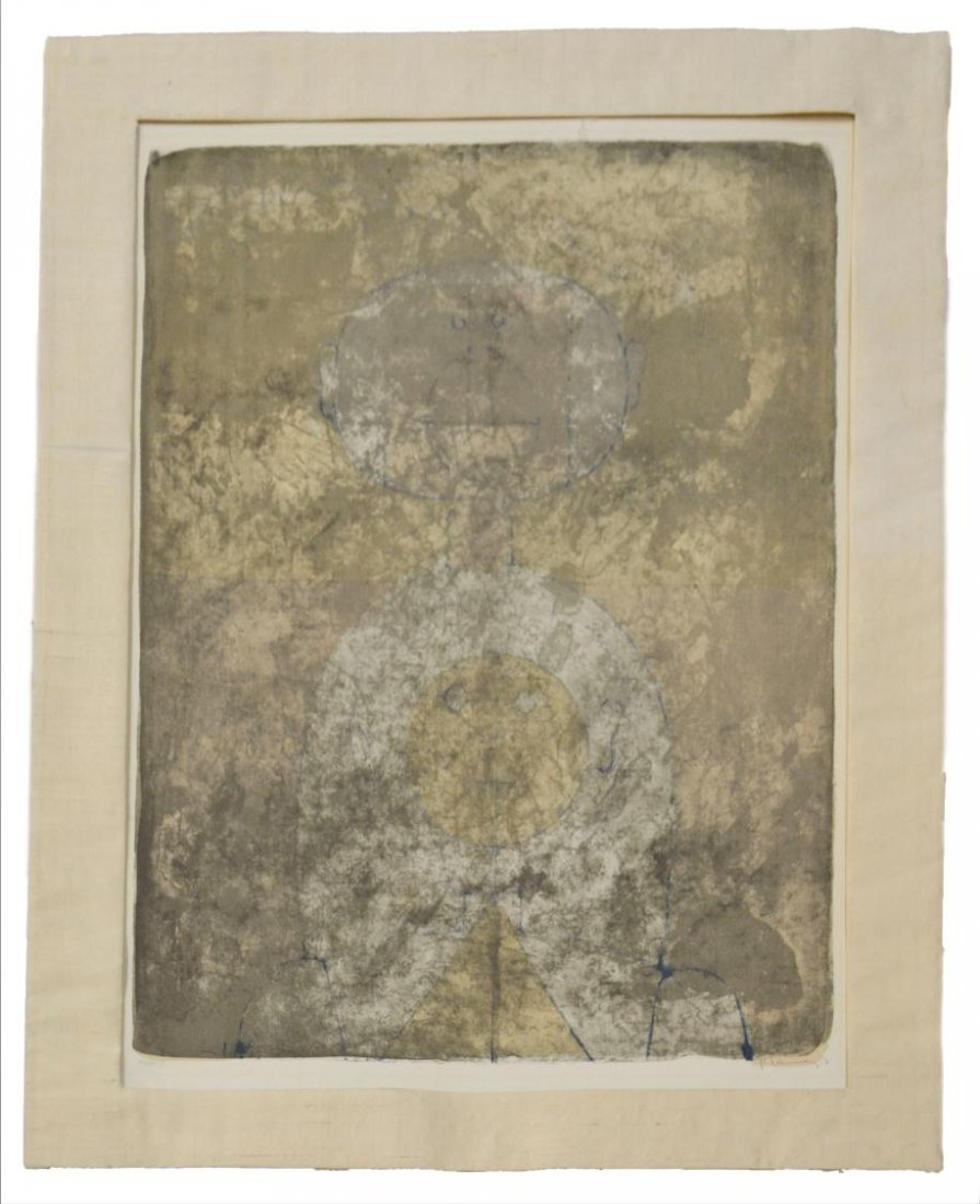 515: COLOR LITHOGRAPH, DOS CABEZAS, RUFINO TAMAYO, 1969