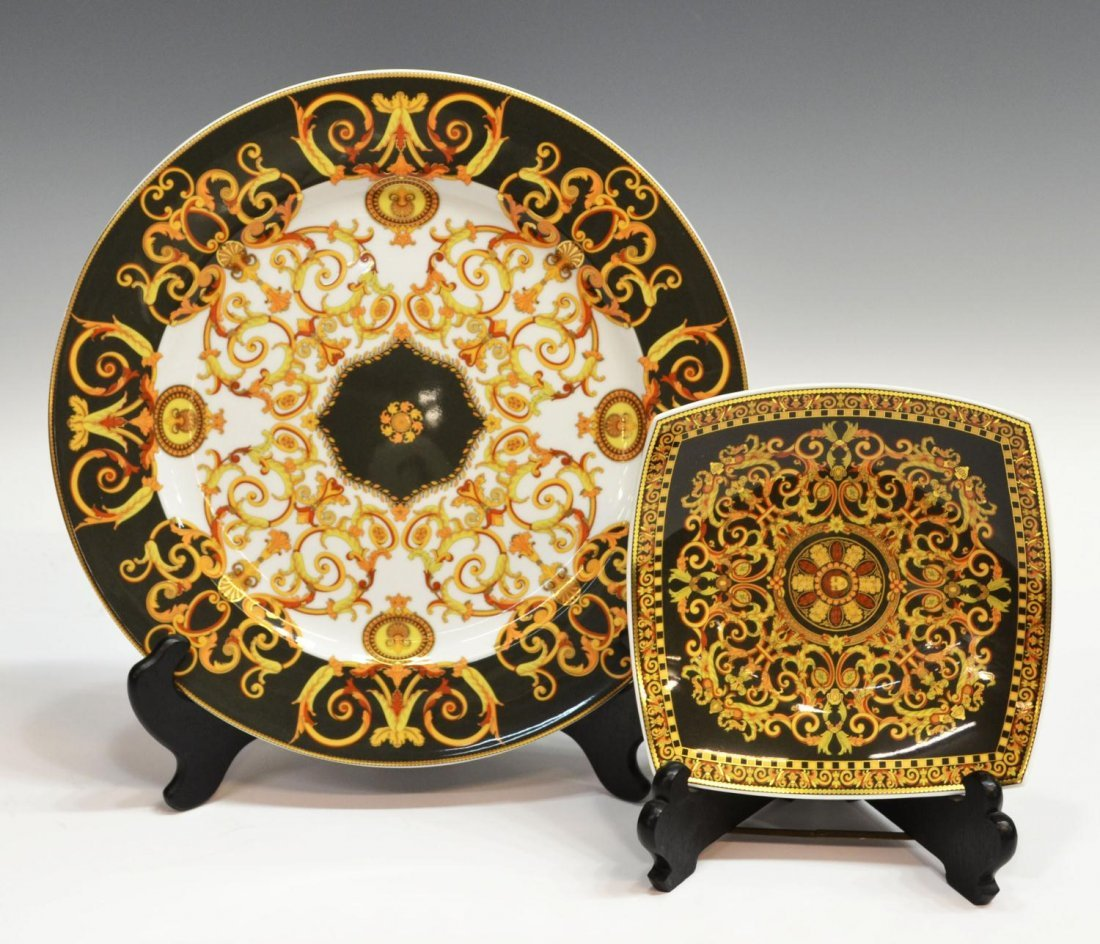 520: (2) ROSENTHAL FOR VERSACE 'BAROCCO' TABLEWARE