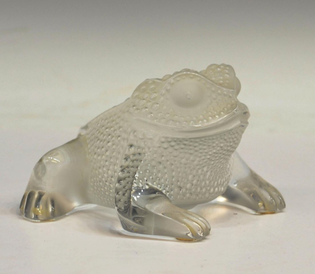 5: LALIQUE FROSTED ART GLASS 'GREGOIRE' FROG