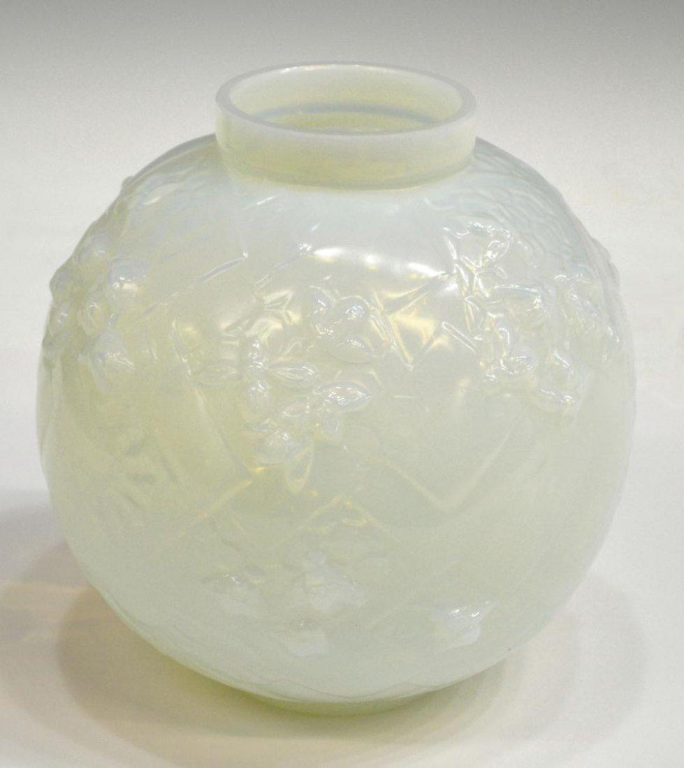 6: (2) SABINO ART GLASS ROSE BOWL & ORNAMENT