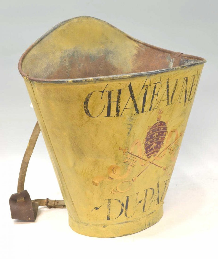 271: VINTAGE FRENCH GRAPE PICKERS BUCKET, CHATEAU-NEUF - 2