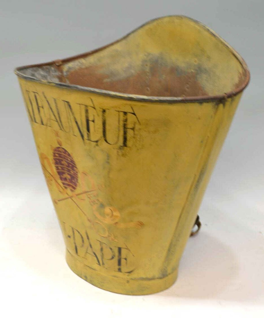 271: VINTAGE FRENCH GRAPE PICKERS BUCKET, CHATEAU-NEUF - 3