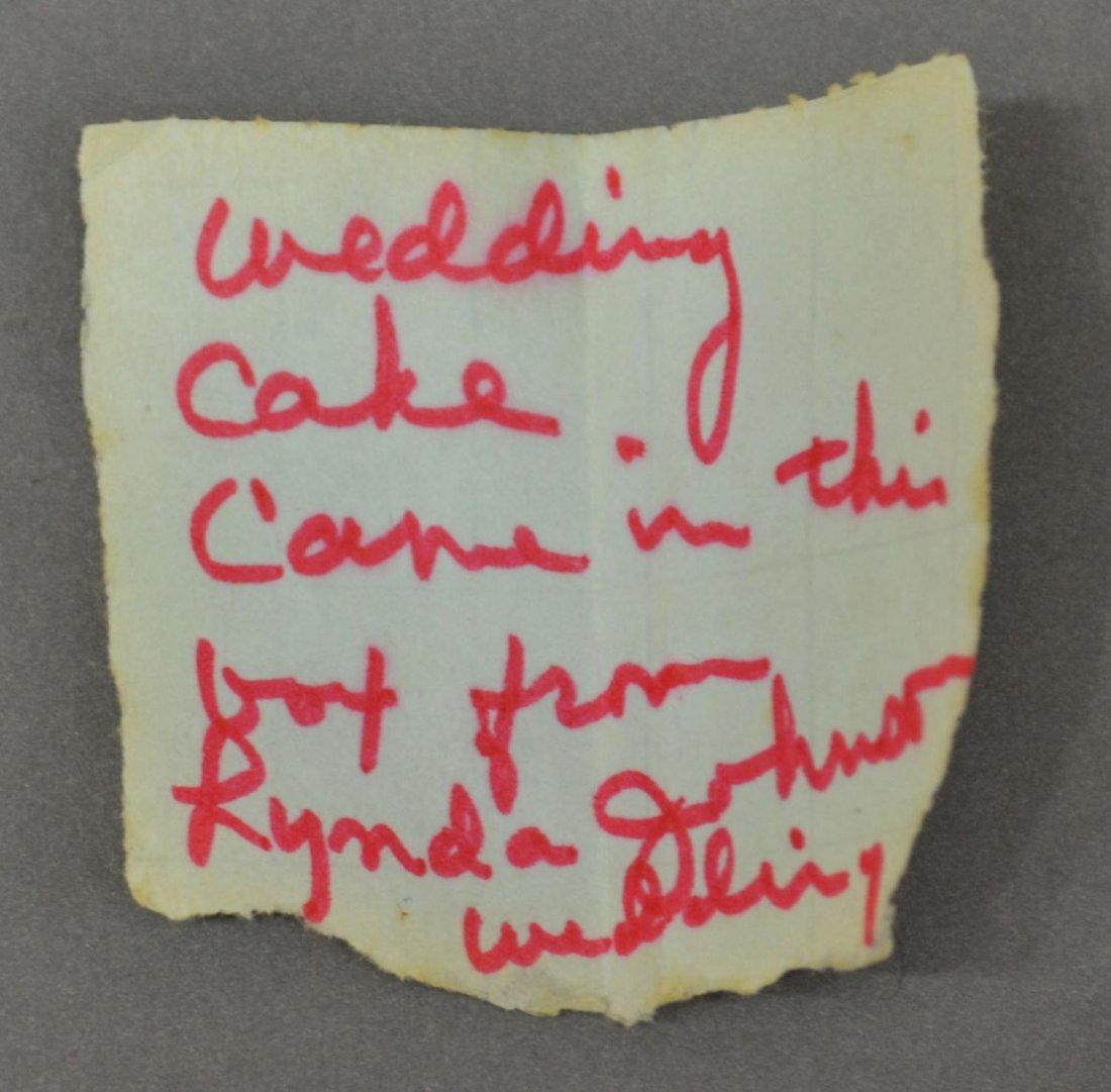 623: LYNDA BIRD JOHNSON & CHARLES ROBB WEDDING BOX - 3