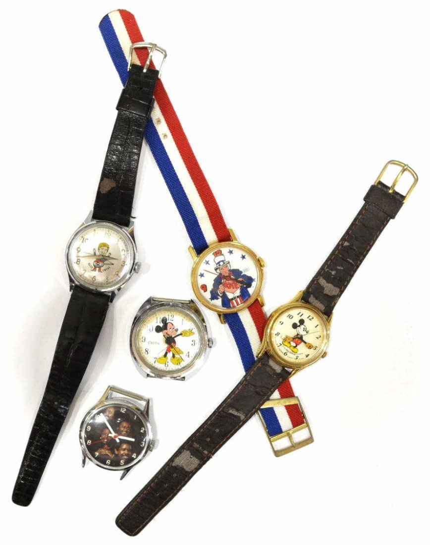 646: VINTAGE MICKEY MOUSE,BUCK OWENS,UNCLE SAM WATCHES