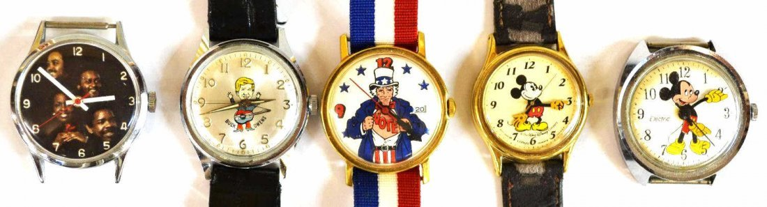 646: VINTAGE MICKEY MOUSE,BUCK OWENS,UNCLE SAM WATCHES - 2