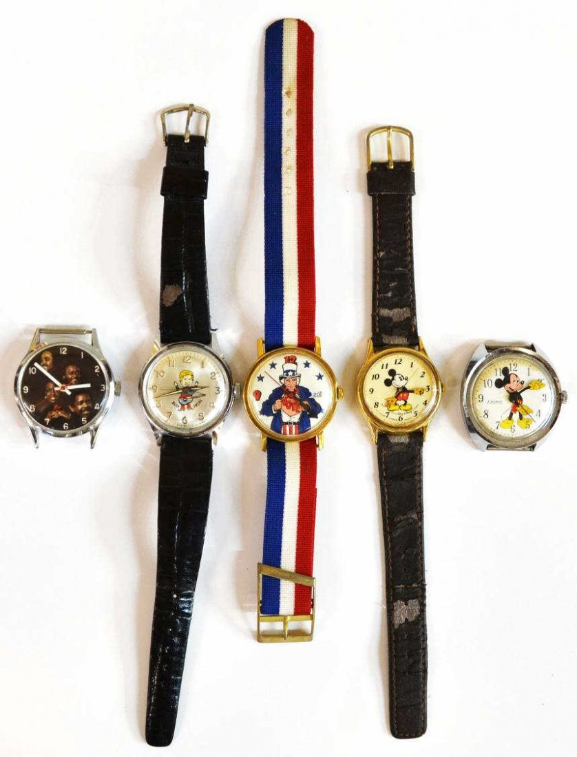 646: VINTAGE MICKEY MOUSE,BUCK OWENS,UNCLE SAM WATCHES - 3