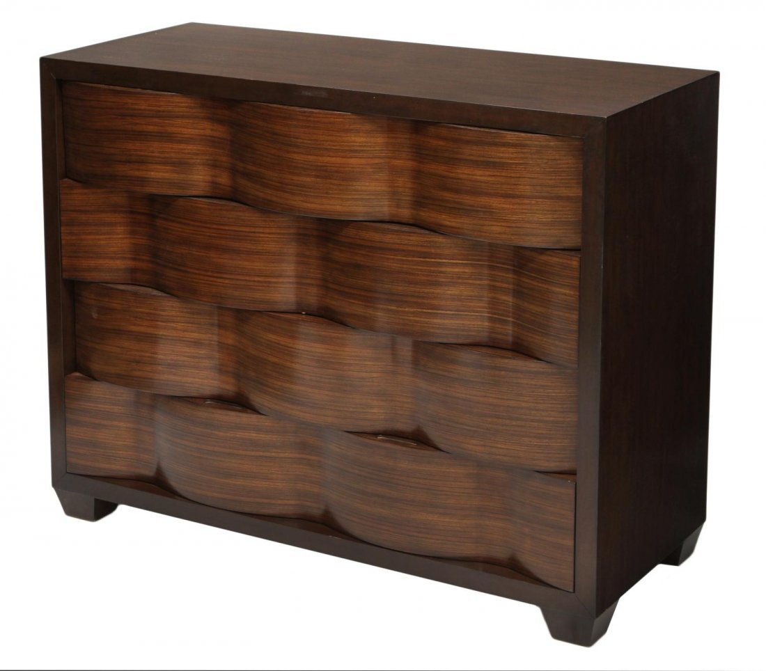 22: MODERN DESIGN CHEST OF FOUR DRAWERS