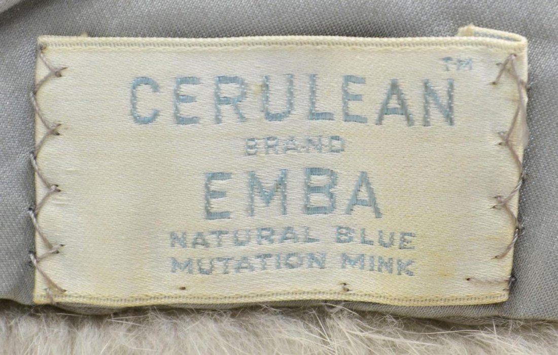 88: VINTAGE EMBA NATURAL BLUE MUTATION MINK WRAP - 6