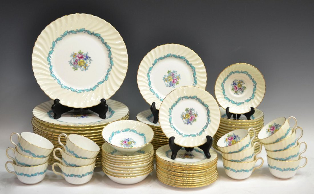 307: (87) MINTON 'ARDMORE' BONE CHINA DINNER SERVICE