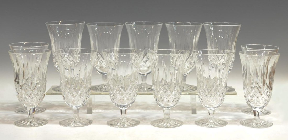 11: (13) WATERFORD CUT CRYSTAL 'LISMORE' GLASSES