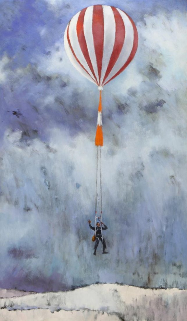 PAINTING ON CANVAS, JUMP BALLOONING, VERA SIMONS