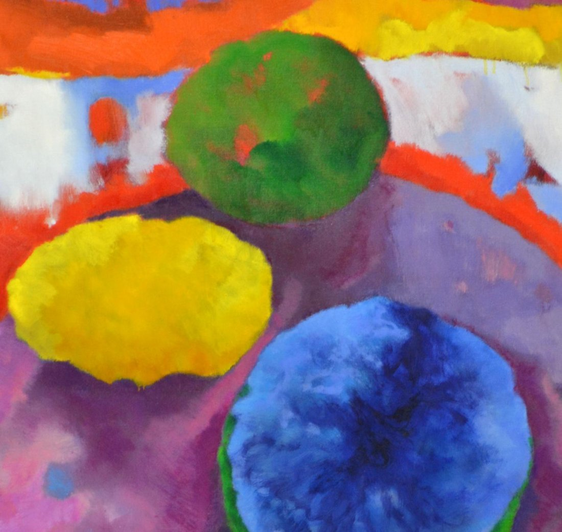 ABSTRACT EXPRESSIONISM PAINTING, RONDO, VERA SIMONS - 2