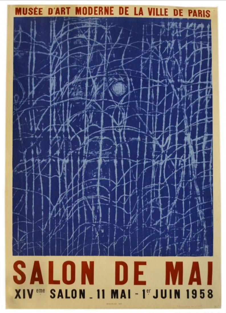 VINTAGE MAX ERNST 1958 SALON DE MAI FRENCH POSTER