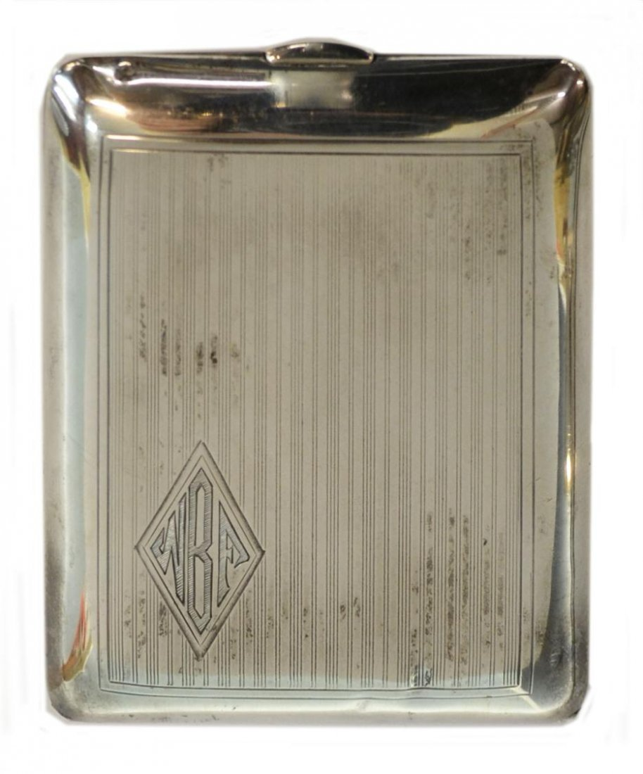 AMERICAN HAVONE STERLING SILVER CIGARETTE CASE