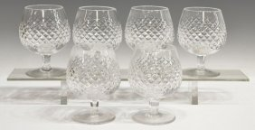 (6) WATERFORD CUT CRYSTAL 'ALANA' BRANDY SNIFTERS