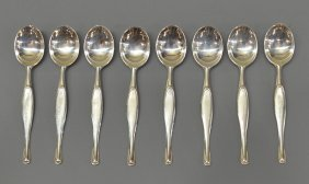 CAMUSSO STERLING SILVER DEMITASSE SPOONS, PERU