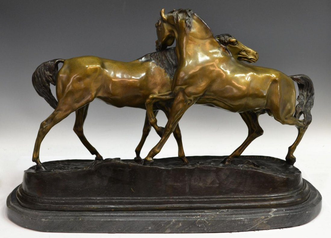 BRONZE HORSES, L'ACCOLADE, AFTER PJ MENE - 4