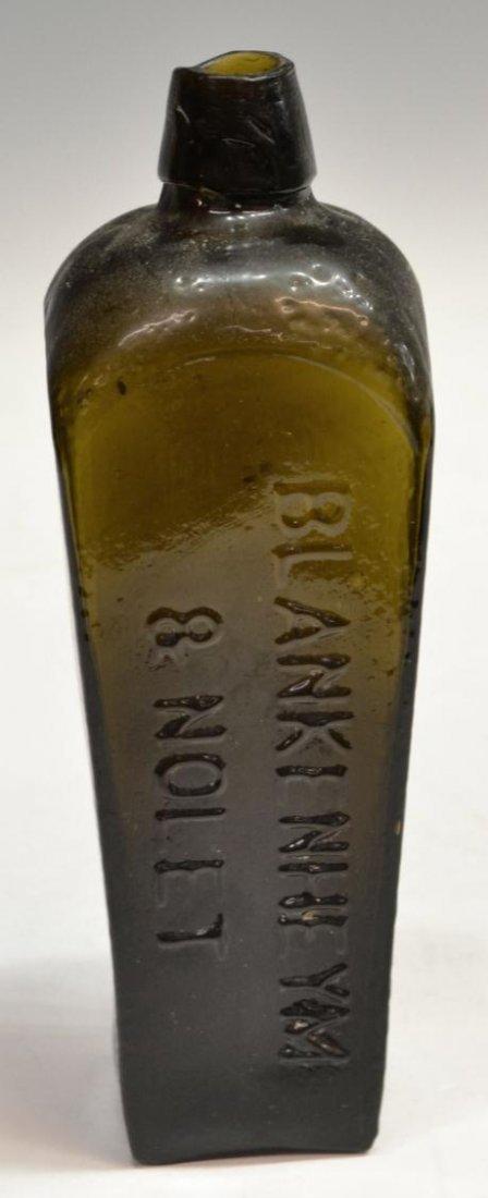 (3) ANTIQUE DUTCH GLASS CASE GIN BOTTLES - 2