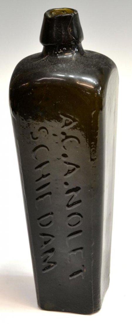 (3) ANTIQUE DUTCH GLASS CASE GIN BOTTLES - 4