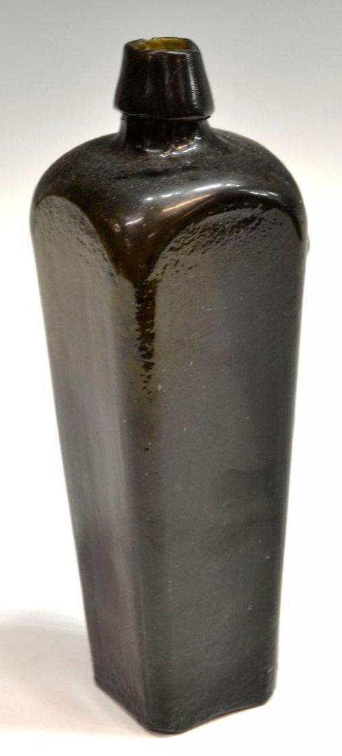 (3) ANTIQUE DUTCH GLASS CASE GIN BOTTLES - 5