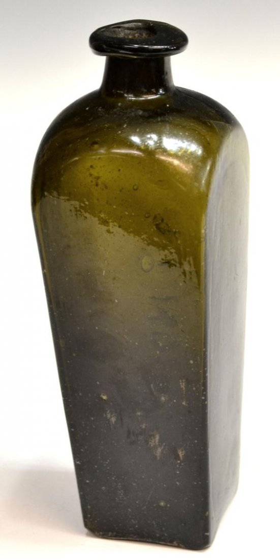 (3) ANTIQUE DUTCH GLASS CASE GIN BOTTLES - 7