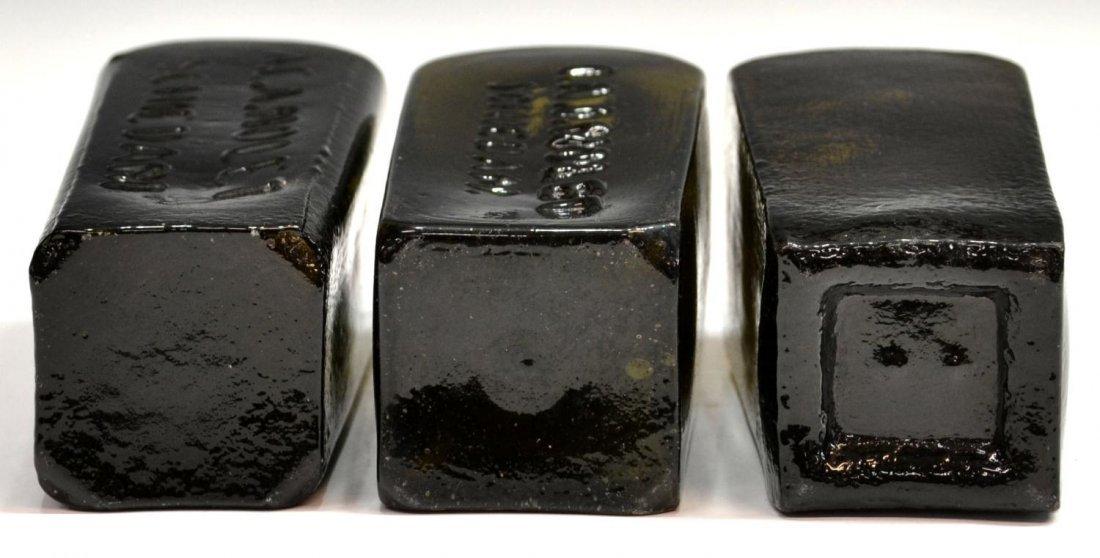 (3) ANTIQUE DUTCH GLASS CASE GIN BOTTLES - 8