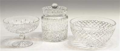 3 GROUP WATERFORD LISMORE COLLEEN GLASSWARE