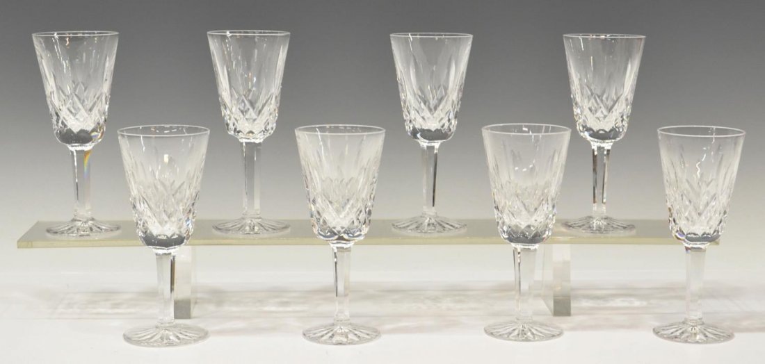(8) WATERFORD CUT CRYSTAL 'LISMORE' SHERRY GLASSES