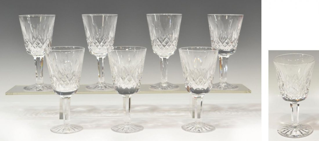 (8) WATERFORD CUT CRYSTAL 'LISMORE' CLARET GOBLETS
