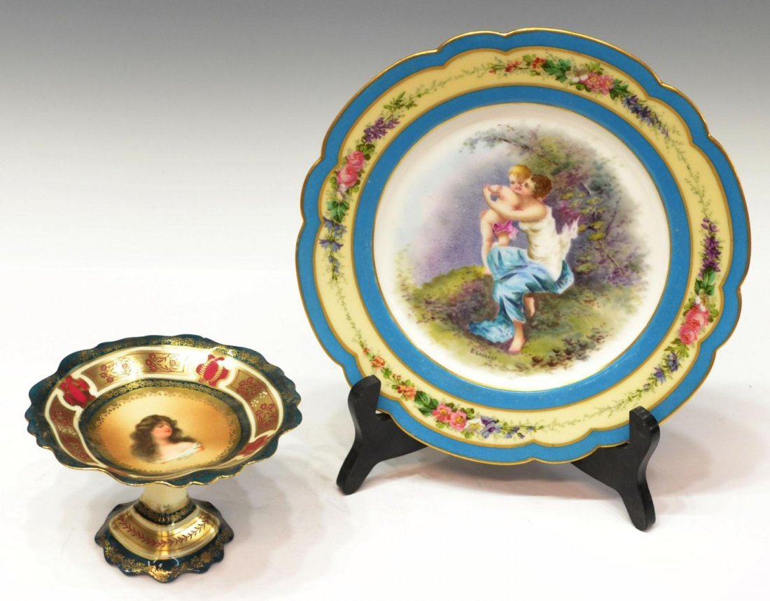 (2) SEVRES & WHEELOCK PORCELAIN CABINET ITEMS
