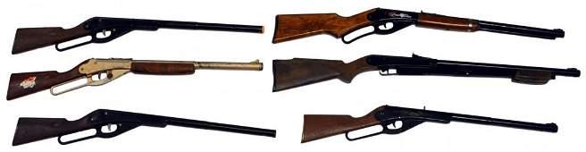 (6) DAISY BB, CORK & TOY GUNS