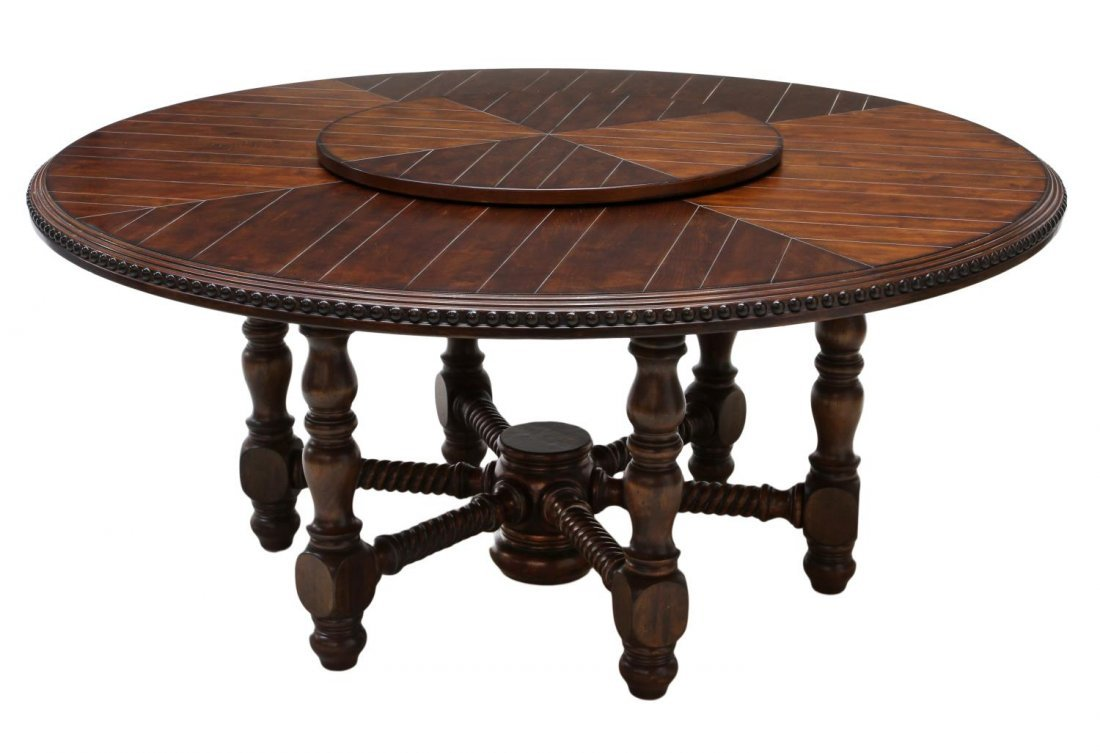 Round Dining Room Table With Lazy Susan - Moncler-Factory-Outlets.com