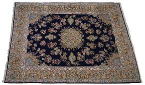 """LARGE PERSIAN KASHAN HAND TIED RUG, 13'l, 9'6""""w"""