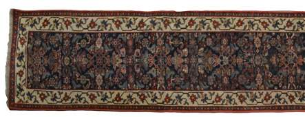 PERSIAN SEMIANTIQUE RUG WOOL RUNNER 16L
