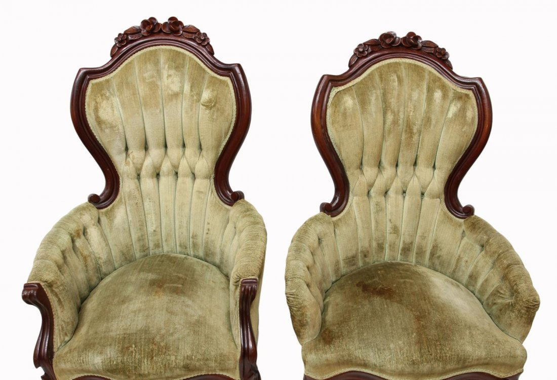 (2) VICTORIAN STYLE ARM CHAIRS - 3