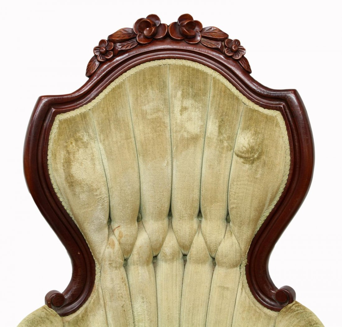 (2) VICTORIAN STYLE ARM CHAIRS - 4