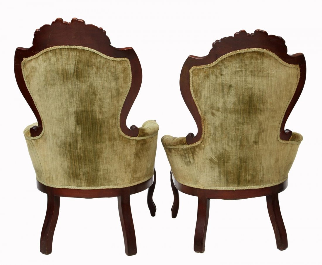 (2) VICTORIAN STYLE ARM CHAIRS - 5