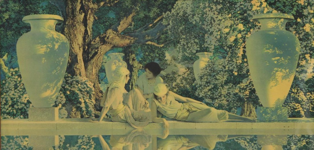 MAXFIELD PARRISH PRINT, THE GARDEN OF ALLAH, 1918