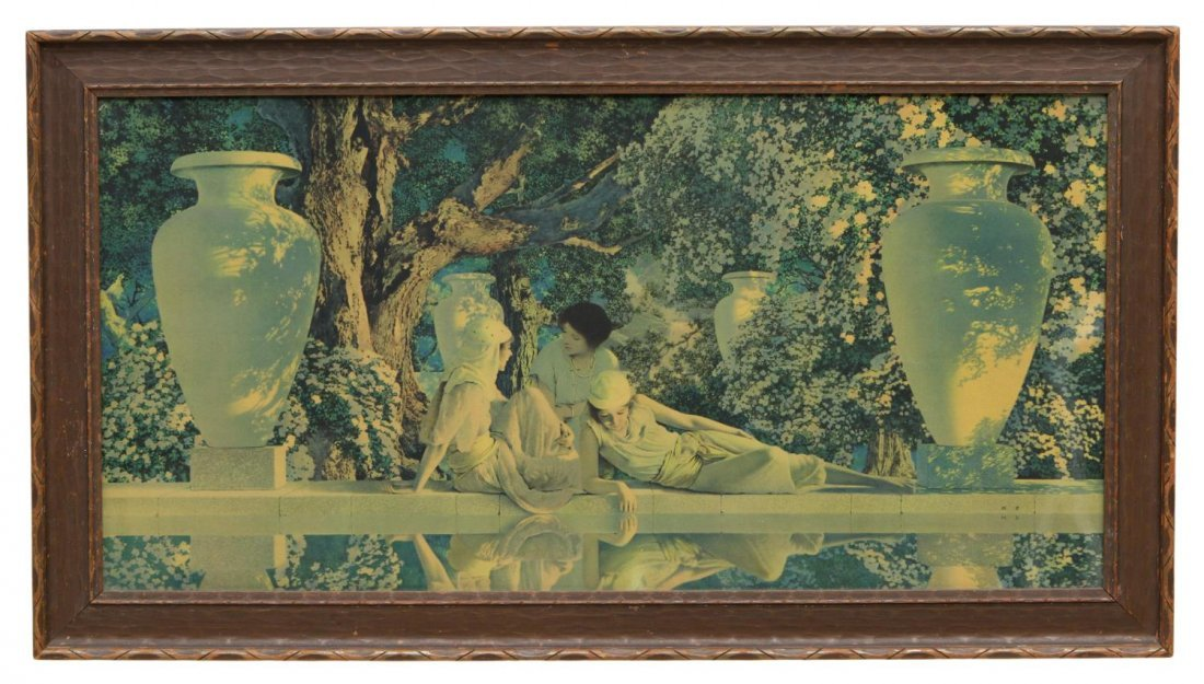 MAXFIELD PARRISH PRINT, THE GARDEN OF ALLAH, 1918 - 2