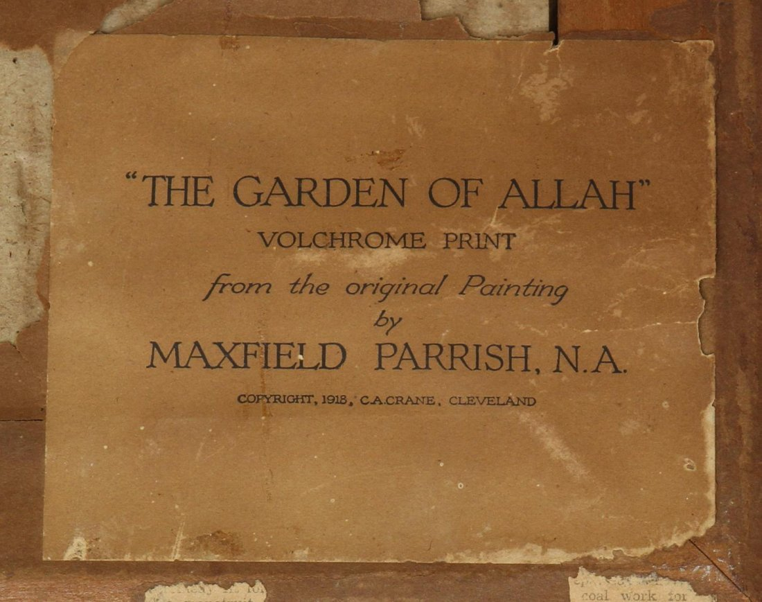 MAXFIELD PARRISH PRINT, THE GARDEN OF ALLAH, 1918 - 6