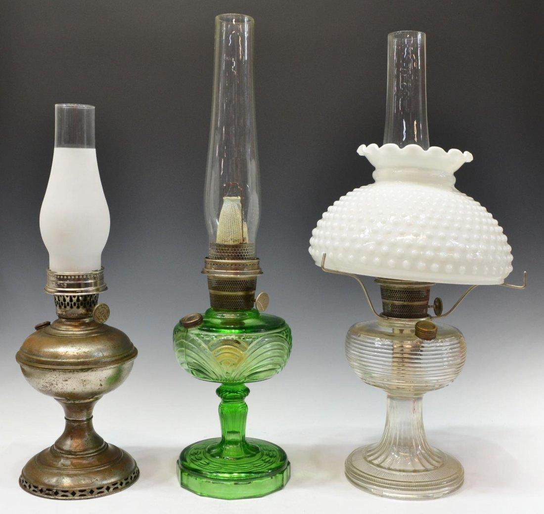 (3) VINTAGE ALADDIN KEROSENE LAMPS, MODELS B & 6