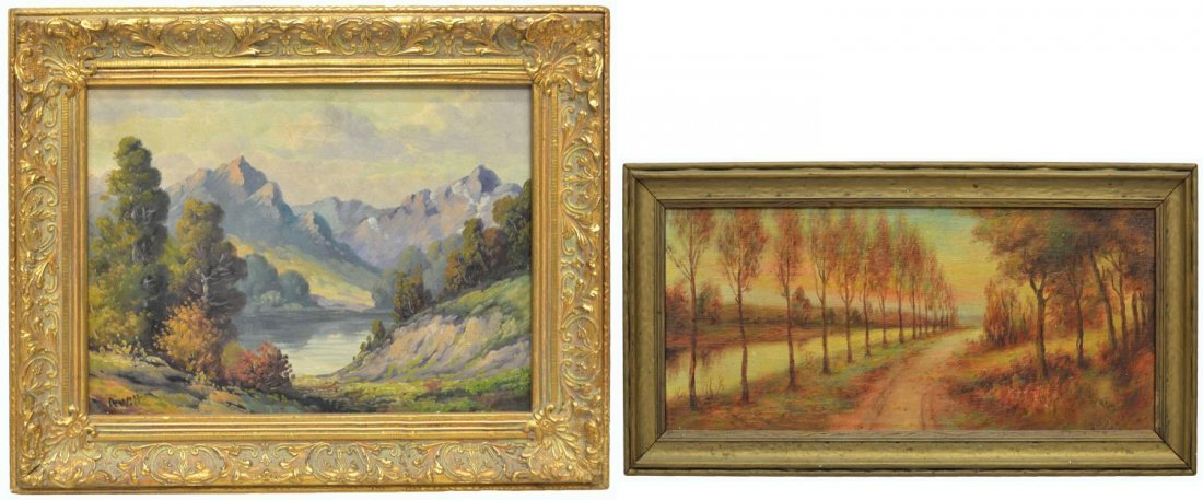 (2) CALIFORNIA PAINTING BY DEWITT & TREED ROAD