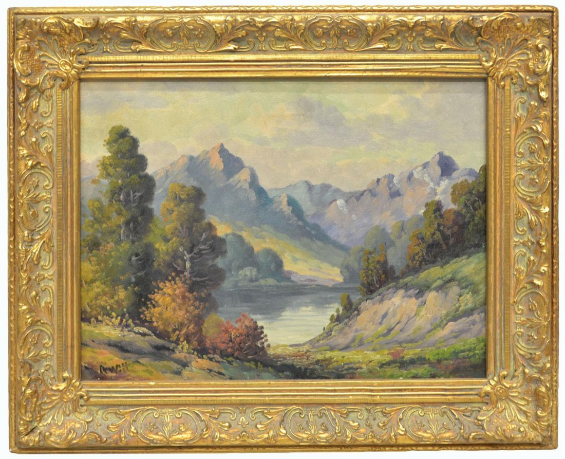 (2) CALIFORNIA PAINTING BY DEWITT & TREED ROAD - 2