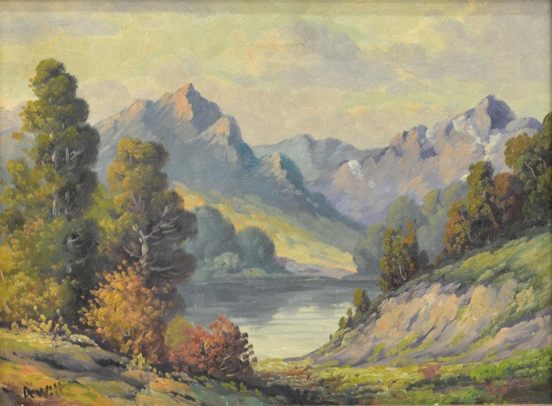 (2) CALIFORNIA PAINTING BY DEWITT & TREED ROAD - 3