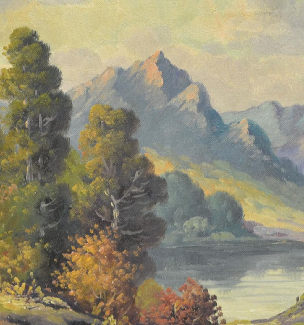 (2) CALIFORNIA PAINTING BY DEWITT & TREED ROAD - 4